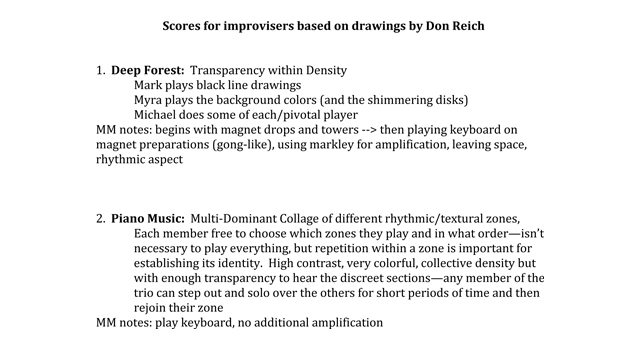 Myra Melford: Scores for Improvisors based on Drawings, by Don Reich